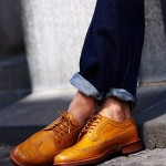 Wingtip Brogues with Premium Denim