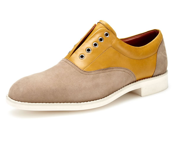 Florsheim by duckie brown slip on mens saddle shoes
