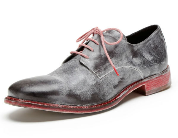 bed stu Bonino Distressed Leather Lace-Ups