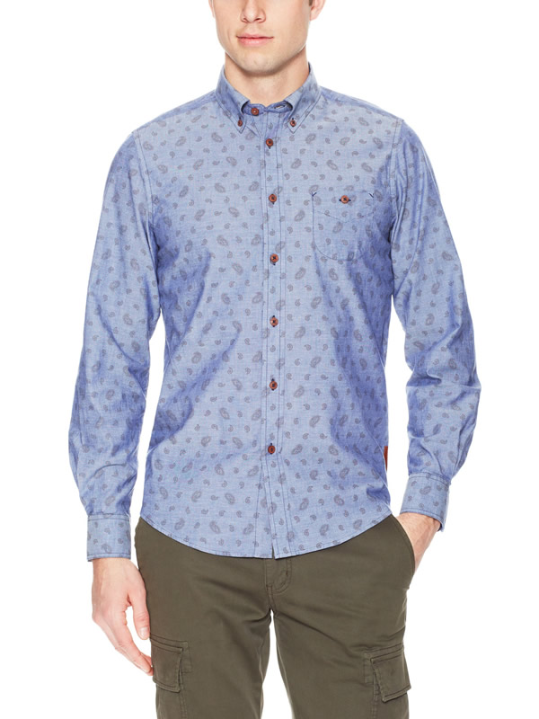 ben sherman blue spring sport shirt