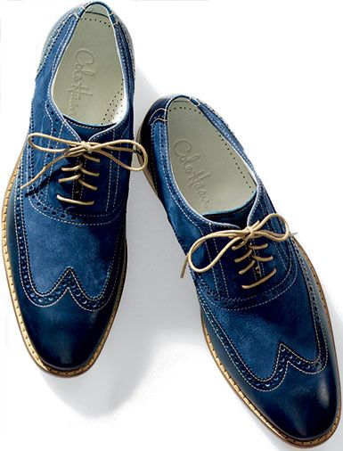 blue cole haan wingtips