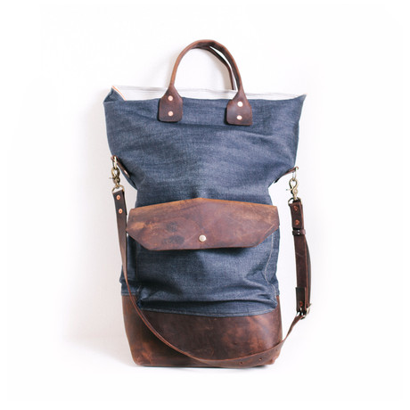 Boutonne Leather Denim Bags and Accessories