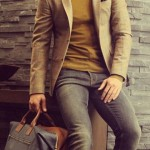 Sport Coat, Sweater and Jeans