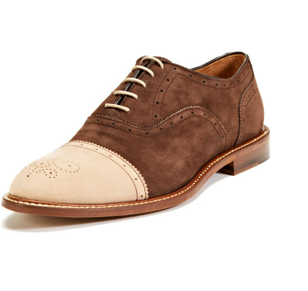 McCarren & Sons Cap-Toe Nubuck Oxfords