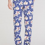 Men's Floral Print Washed Chinos