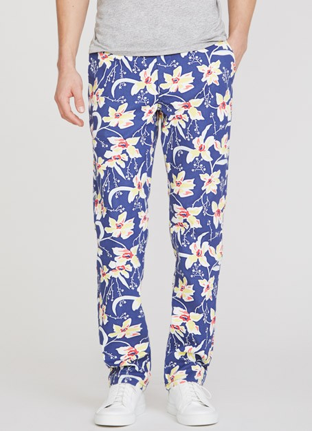 bonobos floral print washed chinos