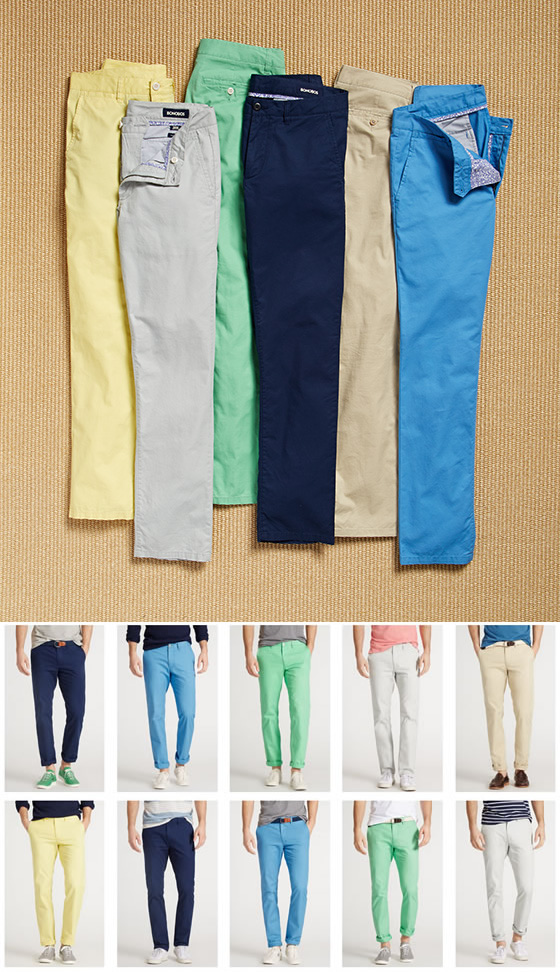 Bonobos summer weight men's chinos pants