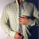 Cool Men's Floral Print Dress Shirt