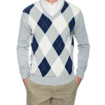 Fred Perry Argyle V-Neck Sweater