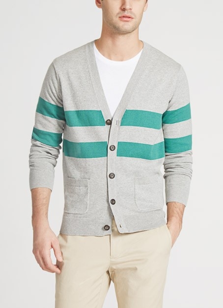 maide mens golf cardigan