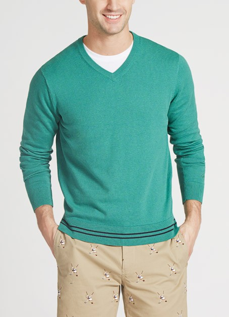 maide mens golf sweater