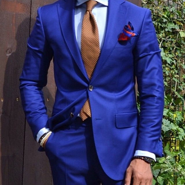 men's blue suit dapper