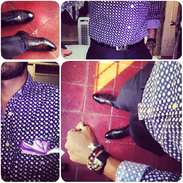 printed dress shirt great shoes and pocket square