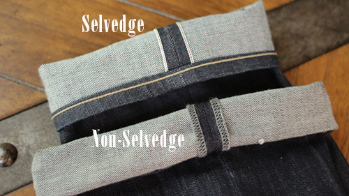 raw versus selvedge denim