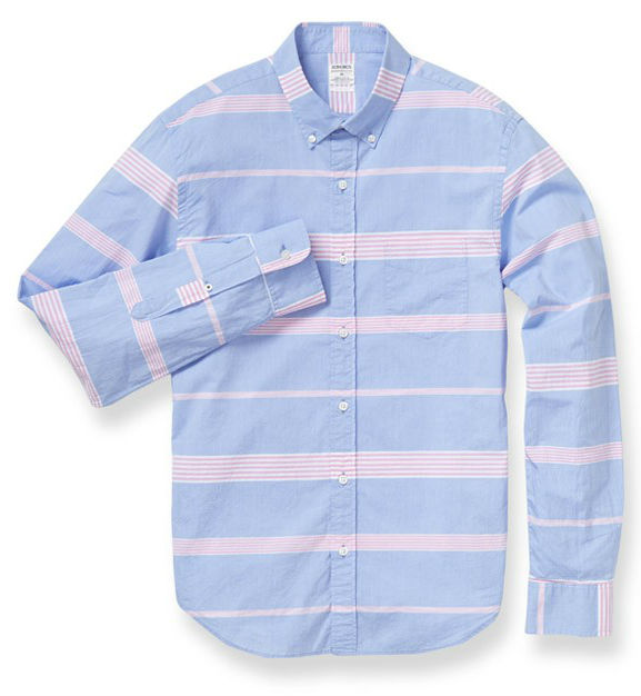 Summer Weight Shirt - Pink Oak Stripe bonobos