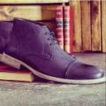 Black Leather Men's Chukka Boots