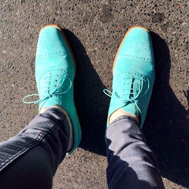 mint suede mens wingtips