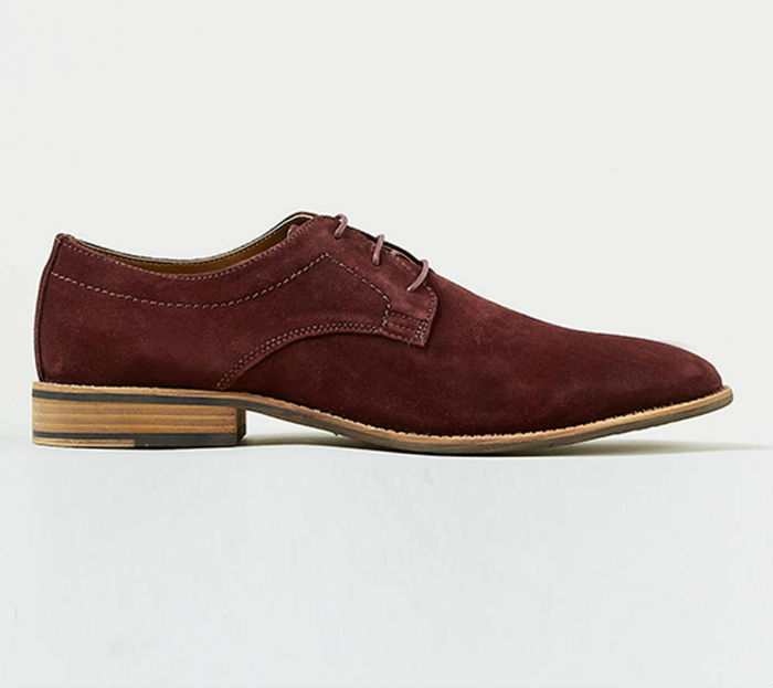 OXBLOOD SUEDE LACE UP SHOES topman