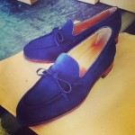 blue summer mens loafers