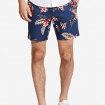 Summer Weight Short - Navy Hawaiian Floral