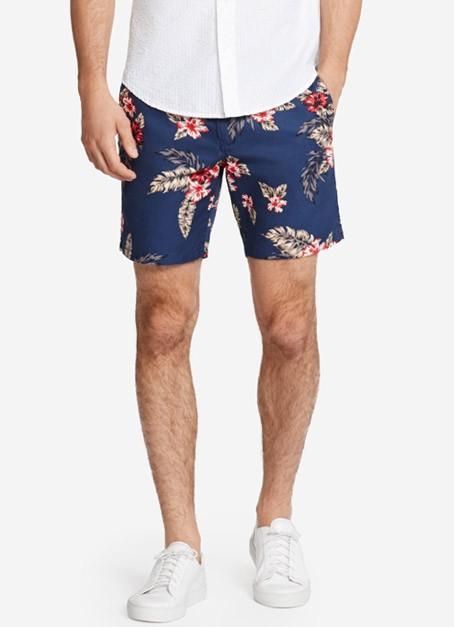 Summer Weight Short - Navy Hawaiian Floral