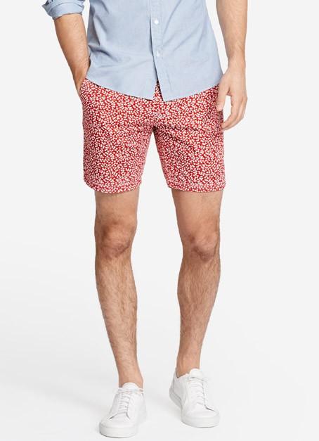 Summer Weight Short - White & Red Ivy
