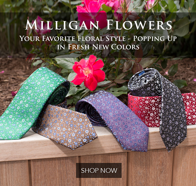 floral print mens neckties from the tie bar