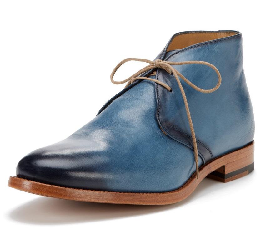 Antonio Maurizi chukka boot blue leather