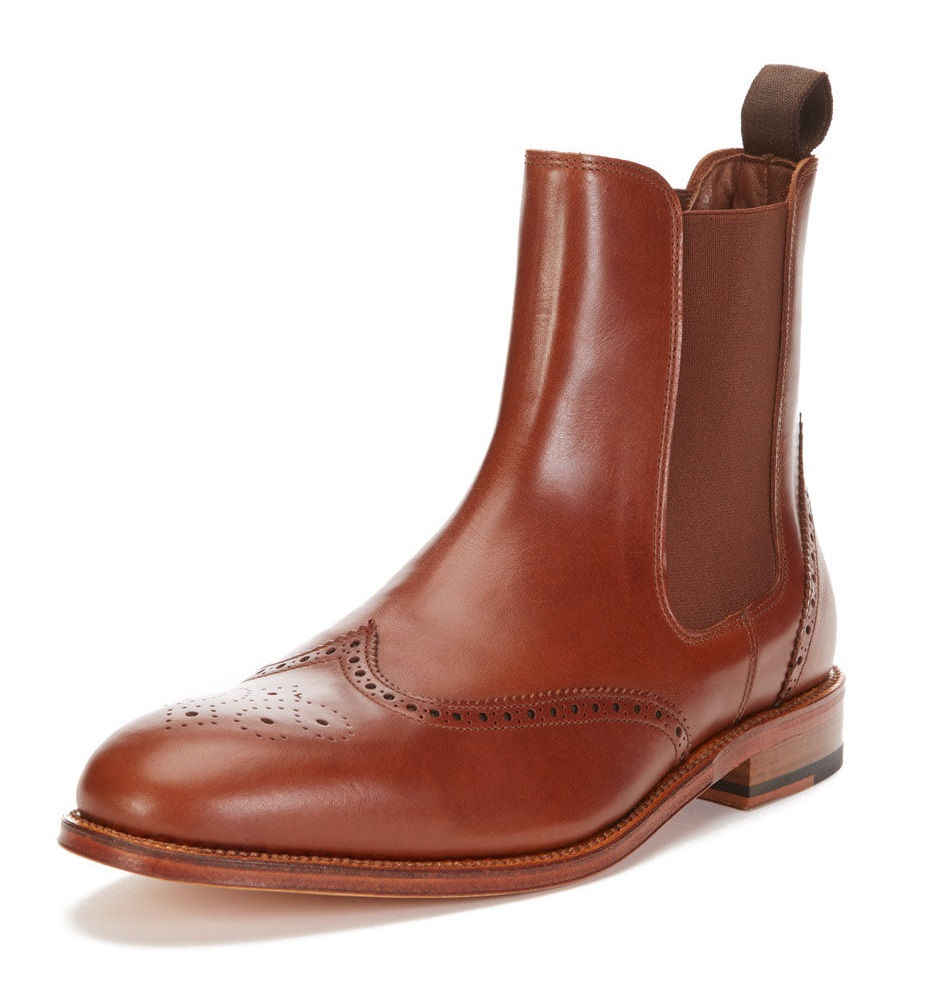 Leather Chelsea Goodyear Welted Boot crosby square