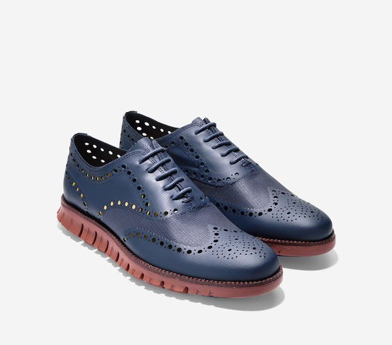 cole haan zerogrand no stitch blazer blue
