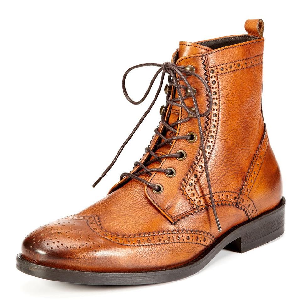 testoni BASIC brogue ankle boot