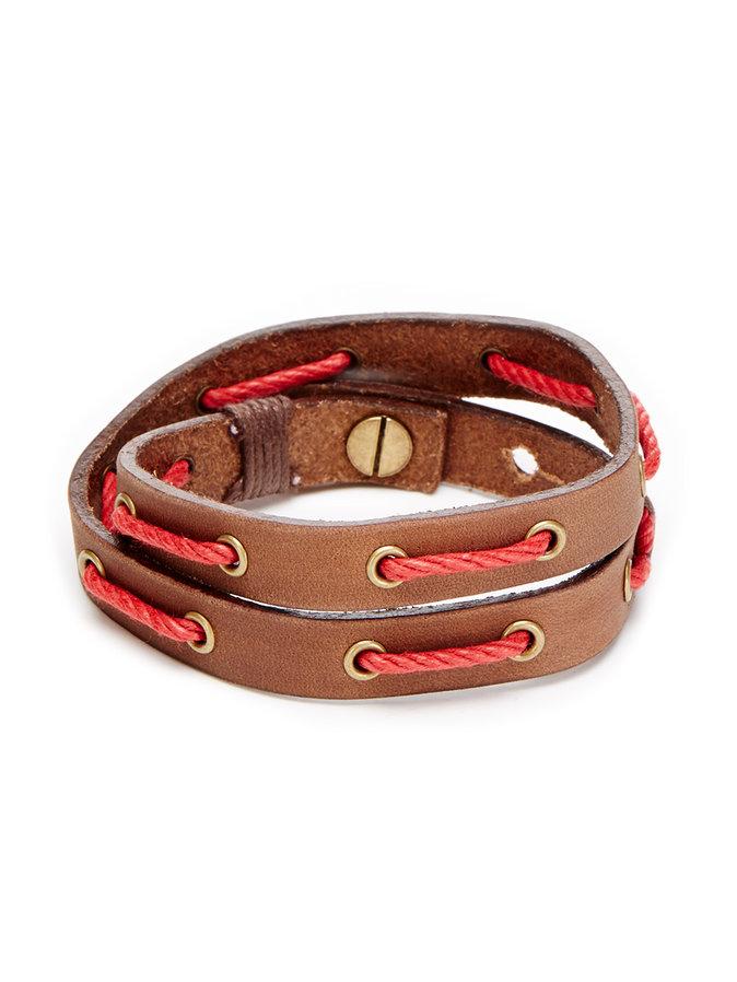 Leather & Cotton Cording Double Wrap Bracelet shore leave