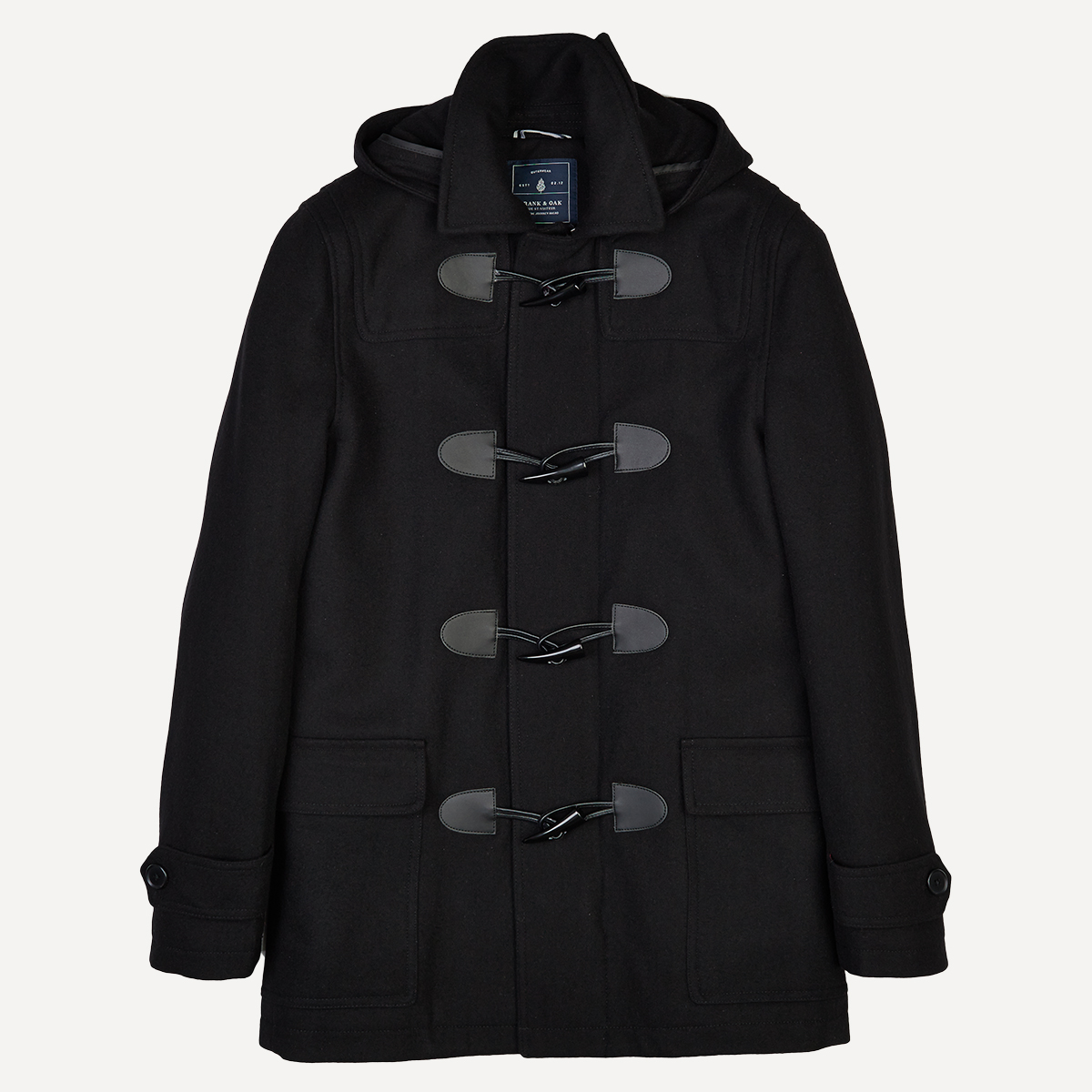 Wool Quilted Toggle Coat Mensfash