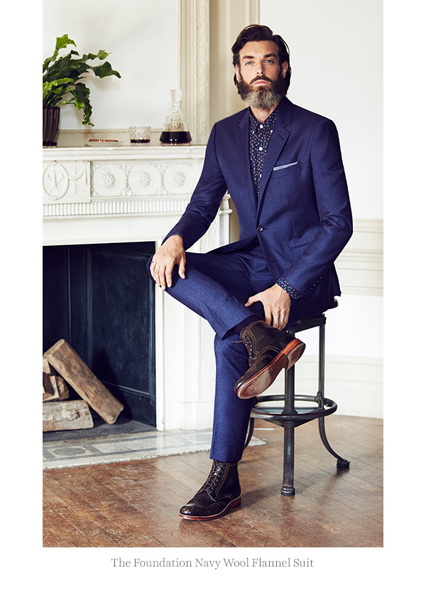 bonobos foundation navy wool flannel suit