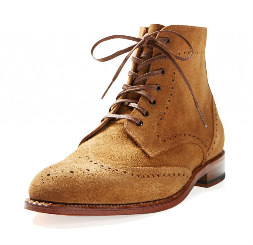 crosby square wingtip boot suede