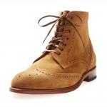 Suede Wingtip Boots