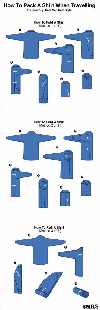 how to fold a mens dress shirt