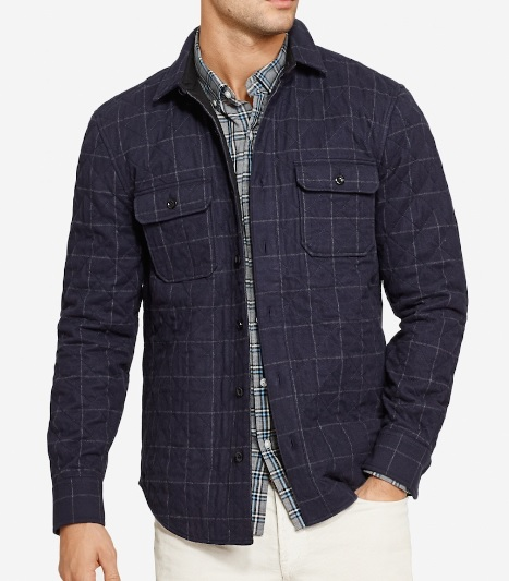 Quilted Flannel Shirt Jacket - Mensfash
