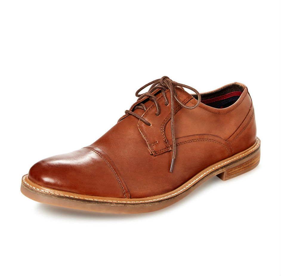 ben sherman leon leather oxford