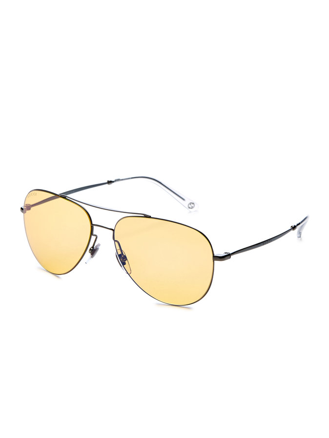 Metal Aviator Frame gucci