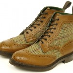 Tweed Brogue Boots