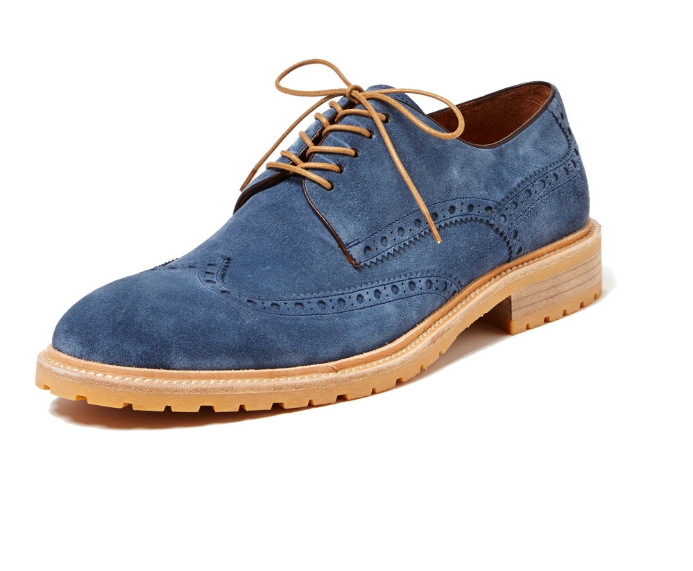 chunky suede wingtip shoes navy