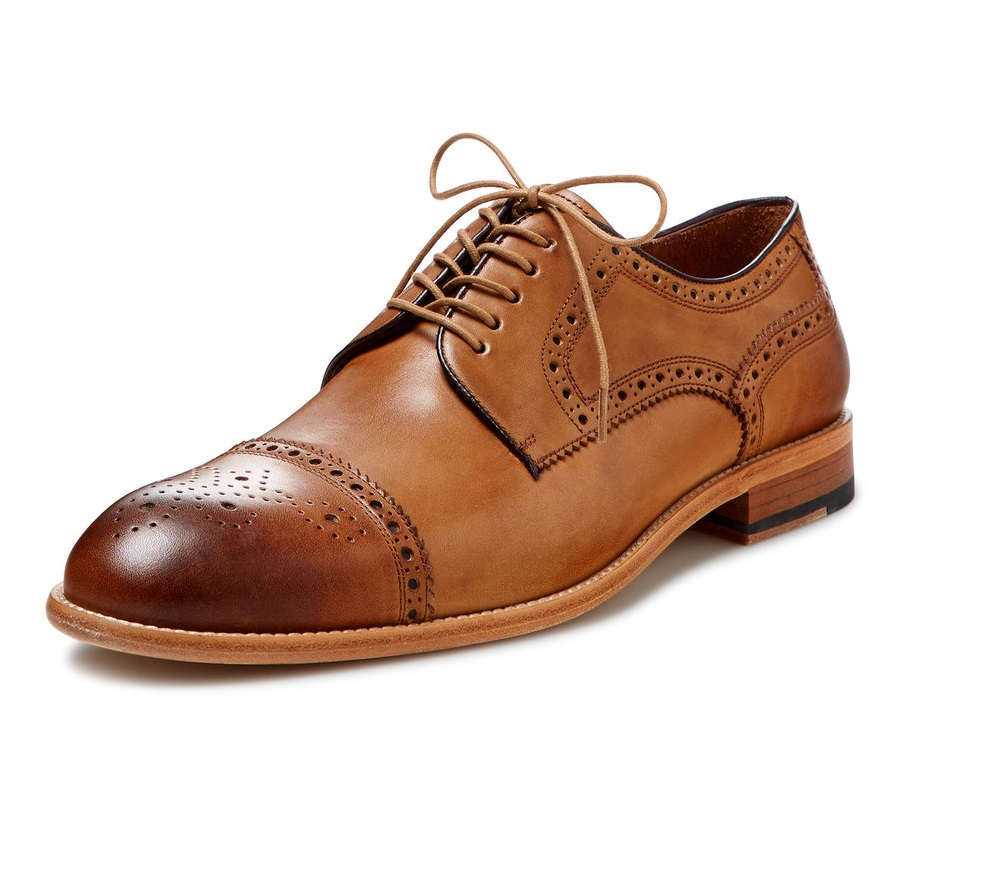 gordon rush leather cap toe derby
