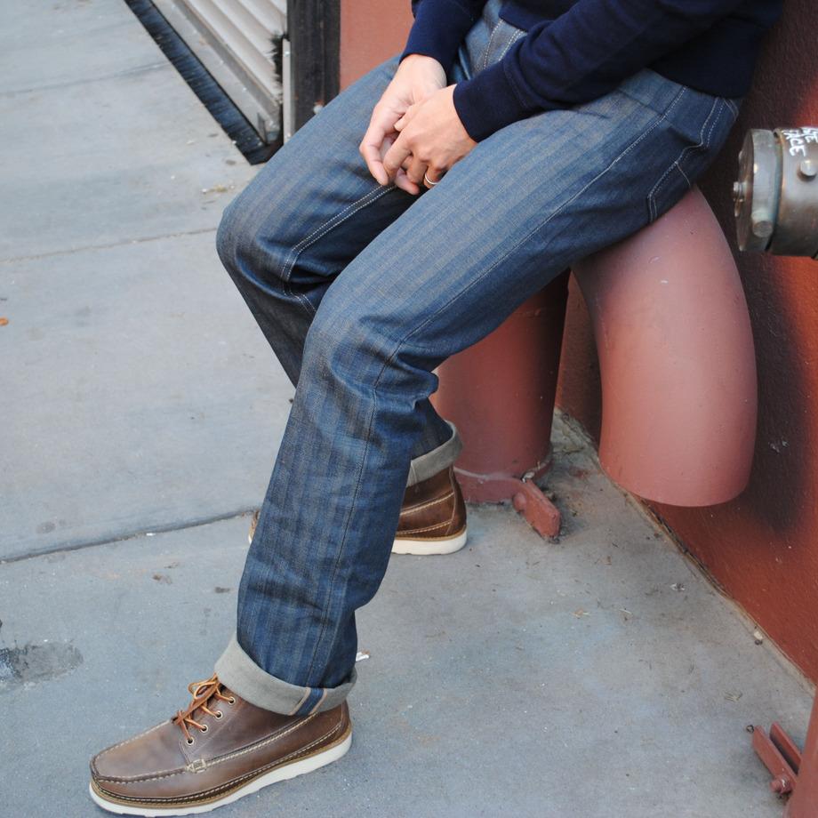 gustin postal herringbone jeans