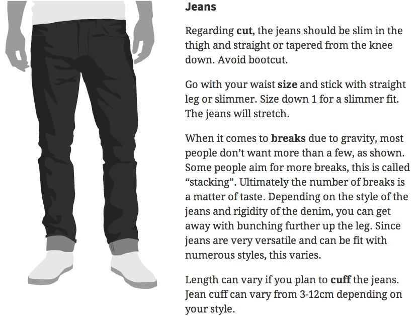 how mens jeans should fit
