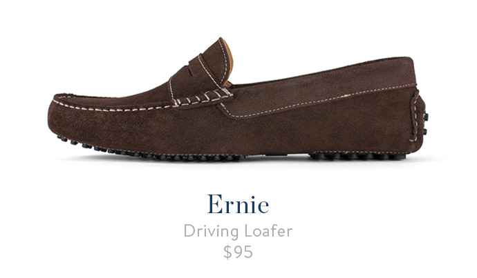 jack erwin ernie mens driving loafer brown