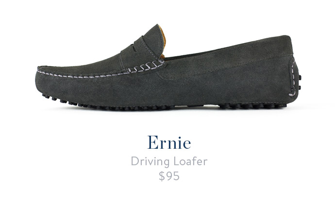 jack erwin ernie mens driving loafer grey
