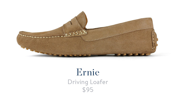 jack erwin ernie mens driving loafer sand