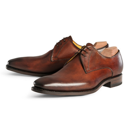 plain toe mens derby shoes