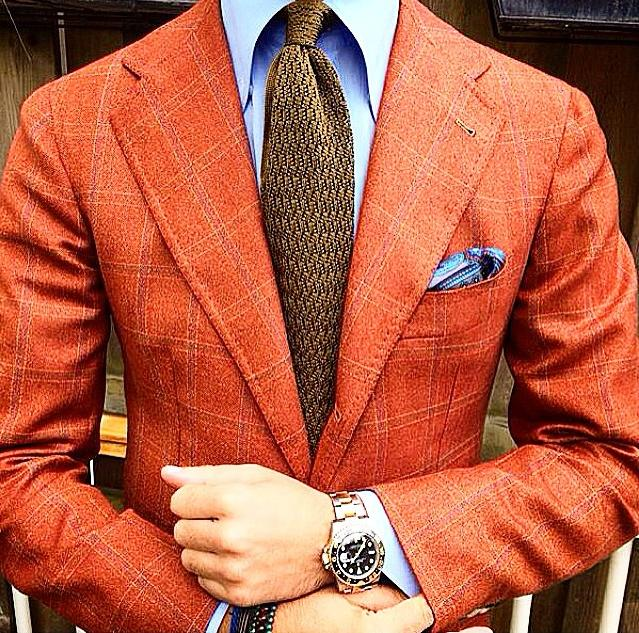 dapper orange mens blazer
